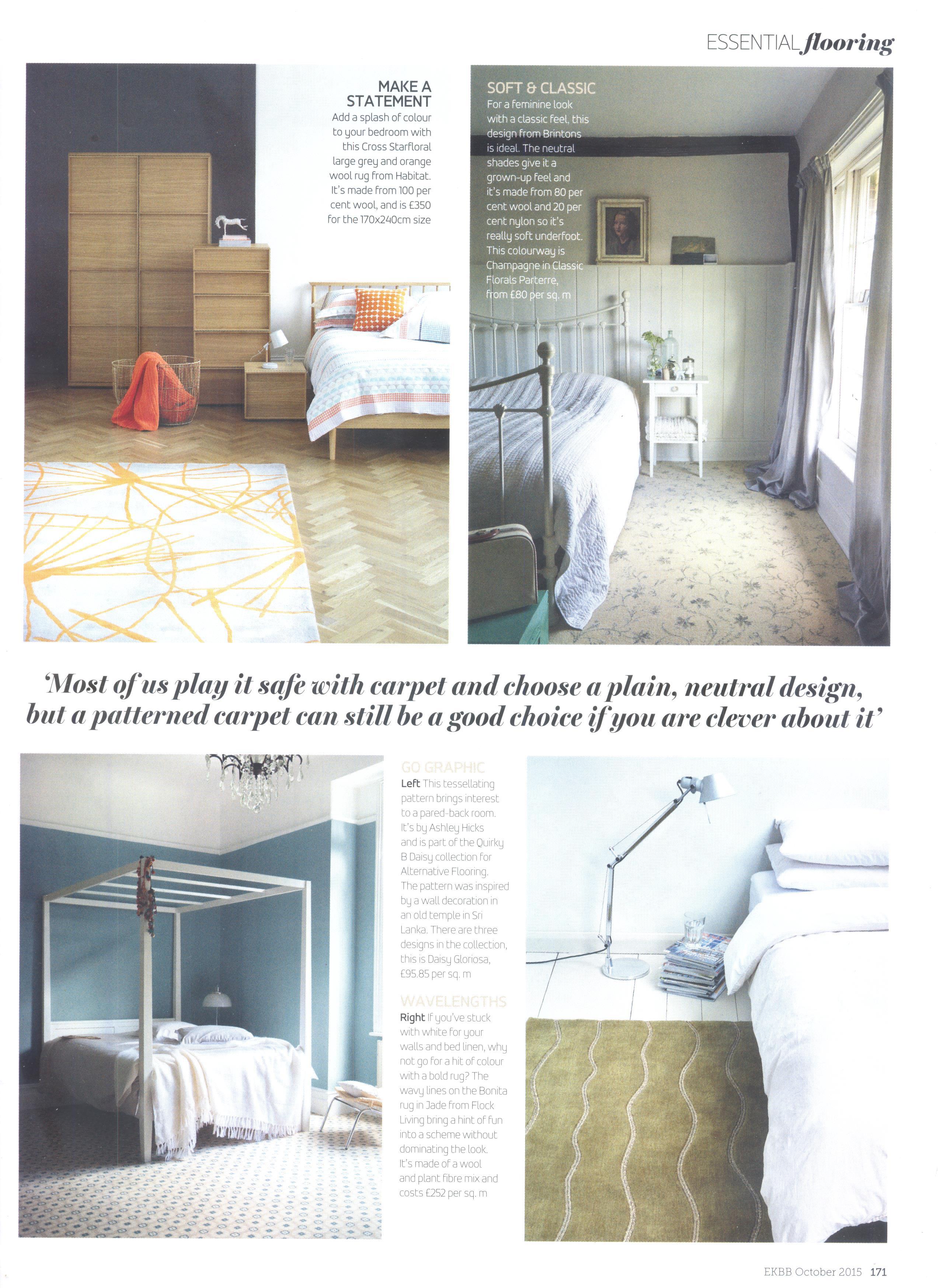 Essential Kitchens Bathrooms Bedrooms Magazine October 2015 Flock Living Limited